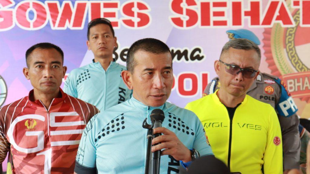 Peringati Hari Bhayangkara, TNI Polri Di Banten Gowes Sehat Sepanjang 74 KM