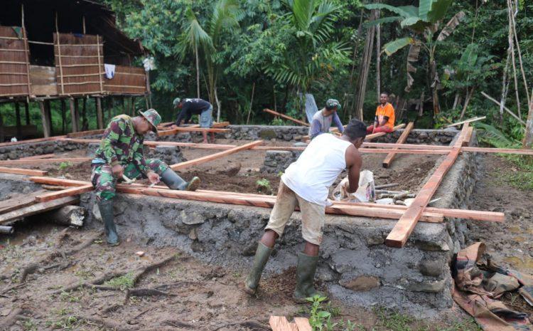Desa Binaan Jadi Sasaran TMDD, Tugas Multi Fungsi Ikhlas Di lakoni Babinsa Yapen Barat