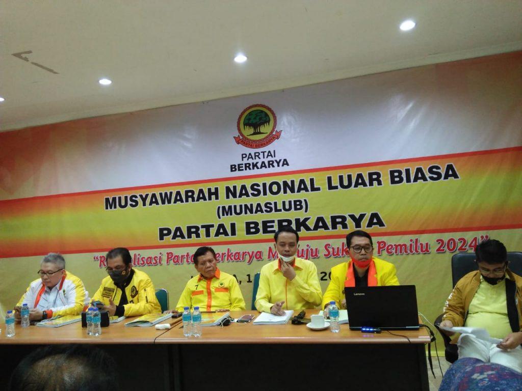 Acara Munaslub Penyelamat Partai Berkarya Walau Ricuh Tetap Berjalan Lancar