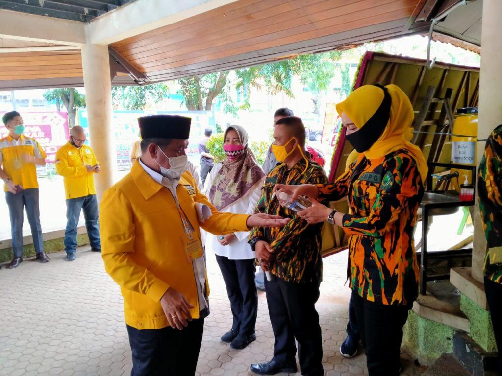 Ratusan Personil AMPG Lampung Gelar Apel Siaga di Musda Golkar Bandar Lampung