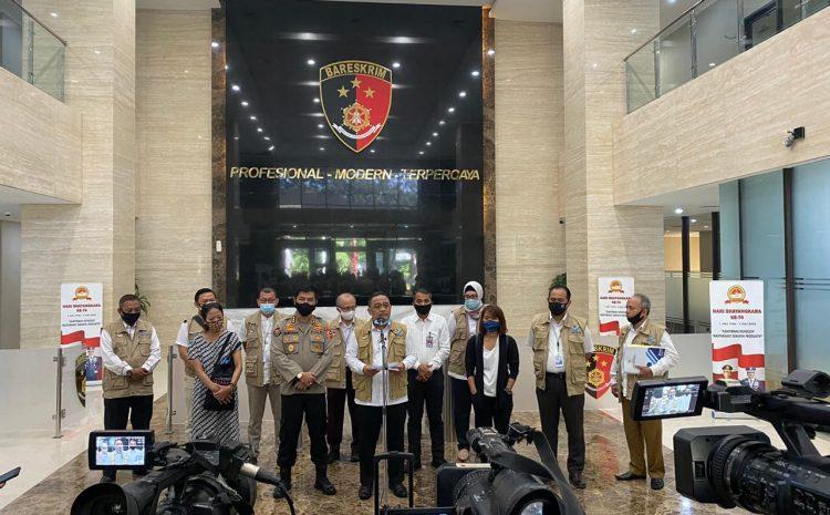 Penyerahan Berkas Ungkap TPPO kasus Dugaan PMI Non Prosedural Di Gelar Bareskrim Polri