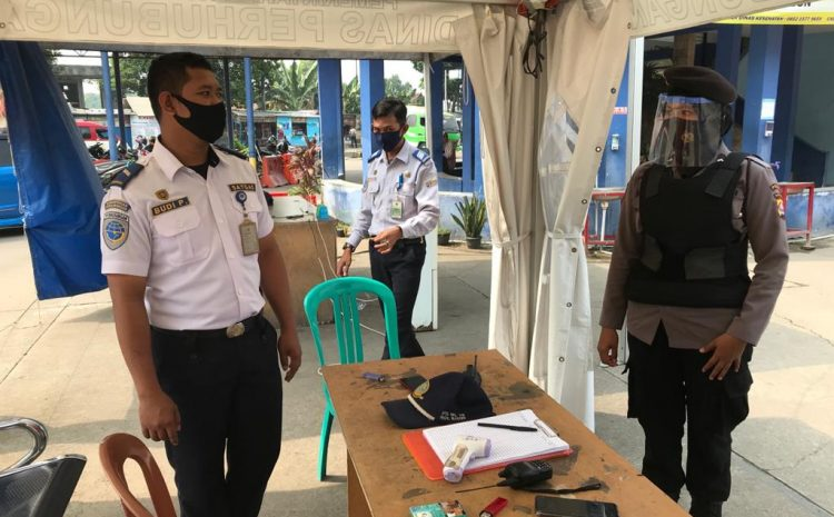Di Masa AKB, Personel Ditsamapta Polda Banten Lakukan Patroli Quick Wins 6 Di Terminal