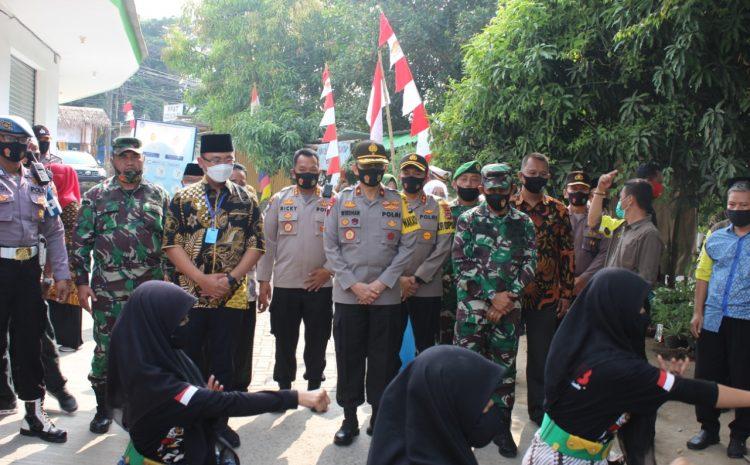 Sinergitas TNI Polri dan Forkopimda di Serang Kunjungi Kampung Tangguh Nusantara Kalimaya