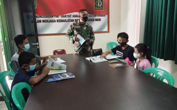 Dukung Program Daring, Koramil 0203 Kramatwatu Berikan Wi-Fi Gratis