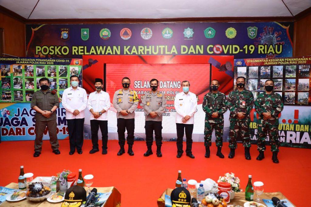 Kabaharkam Polri Pimpin Apel Kesiapsiagaan Satgas Relawan Karhutla Di Provinsi Riau
