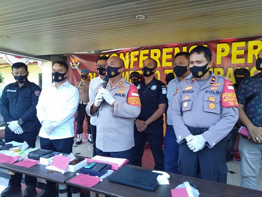 Polres Tangerang Kota ungkap Pencurian Dengan Kekerasan, Motif Sakit Hati