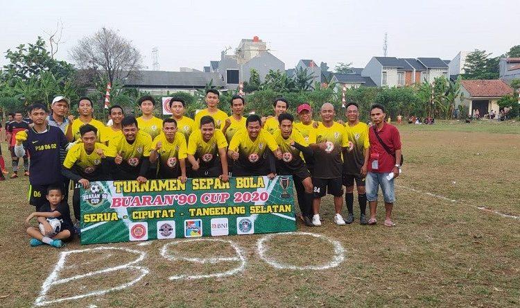 Turnamen Sepak Bola Buaran, 90 Cup 2020 Serua Ciputat, Kota Tangerang Selatan