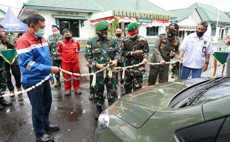 Danrem 071/Wijayakusuma Lounching Mobil Ambulance Bantuan Pertamina Cilacap