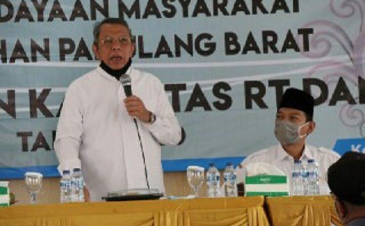 Wakil Walikota Benyamin Davnie Ajak RT – RW Cegah Penularan Covid-19