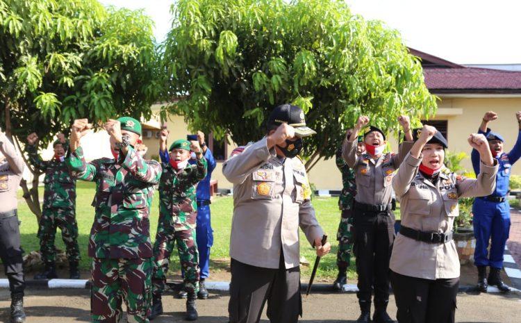 Kungker Di Mapolres Labuhanbatu, Kapoldasu Disambut Personil TNI Dan Polri