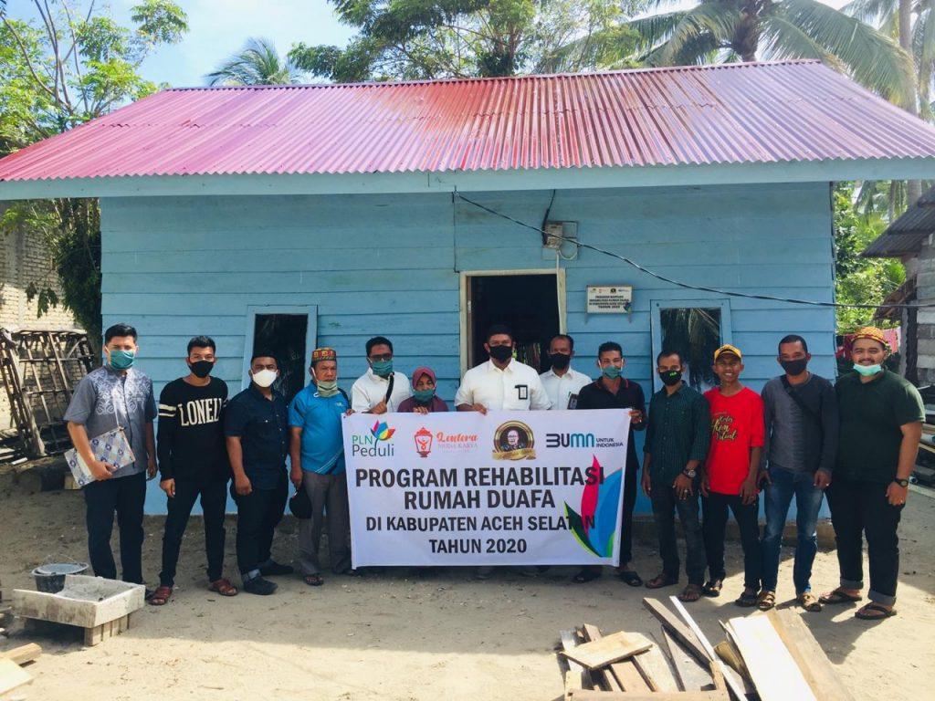 PLN Aceh bersama Lemka Foundation Rehab Rumah Duafa