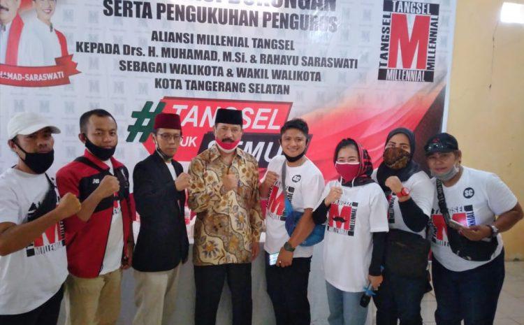 Aliansi Millennial Tangsel Mendukung H Muhamad Dan Rahayu Menjadi Wali Kota Tangerang Selatan