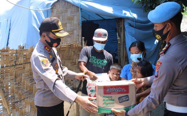 Kapolres Sergai Berikan Bantuan Sembako dan Tali Asih Kepada Korban Angin Puting Beliung