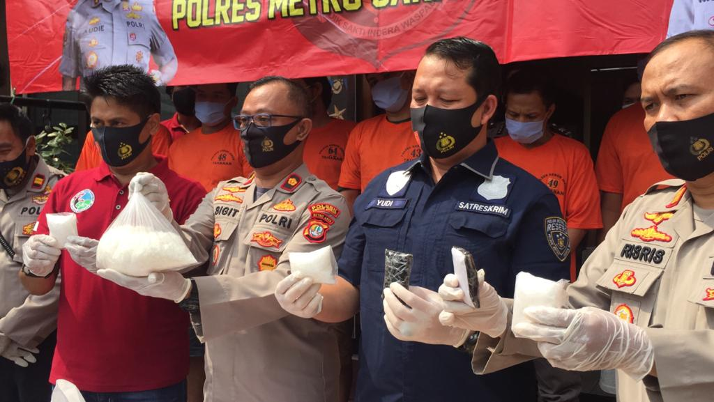 Polisi Bongkar Jaringan Narkoba Lapas, 1,3 KG Sabu DI Amankan Petugas