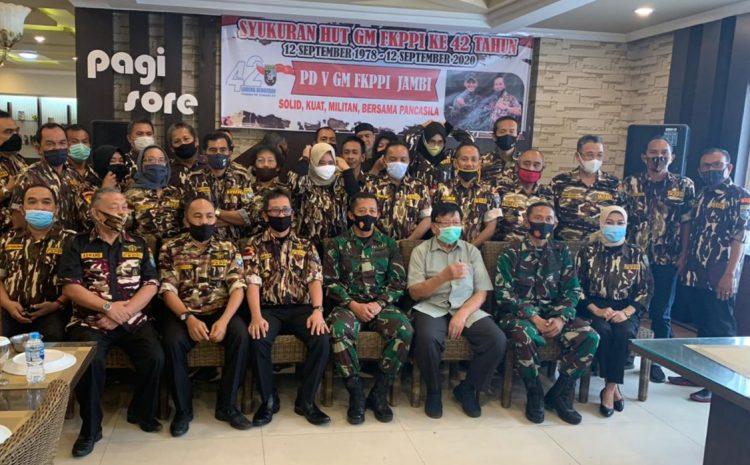 Rayakan HUT Ke-42, PD V GM FKPPI Provinsi Jambi Adakan Syukuran