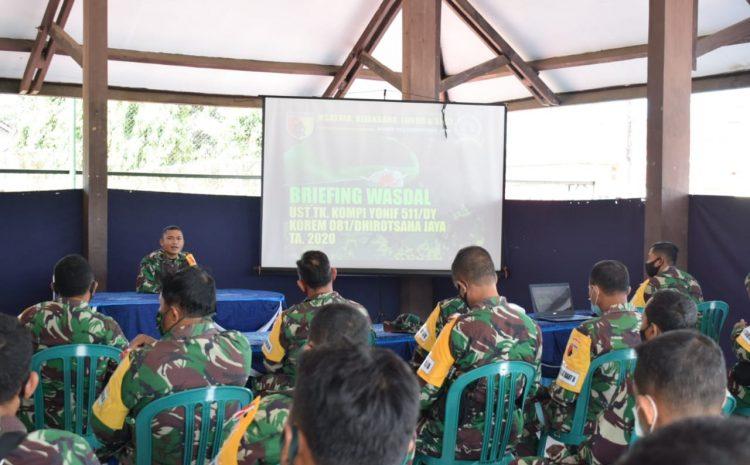 Briefing Penyelenggara Uji Siap Tempur Tingkat Kompi Yonif 511/DY