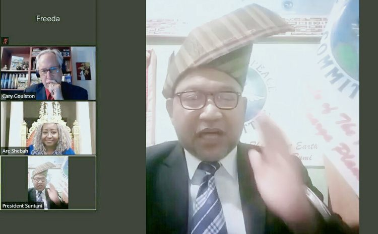 Presiden Dunia HE Mr Djuyoto Suntani Tutup Konferensi Virtual Perdamaian Dunia 202 Negara