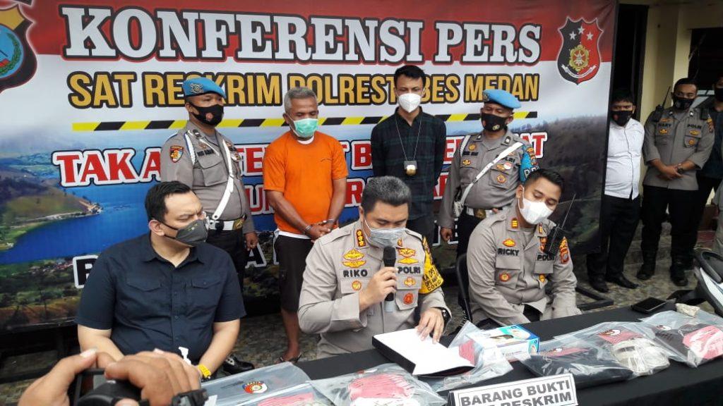 Polrestabes Medan Berhasil Tangkap Pelaku Pembunuhan Driver Ojol Di Tembung