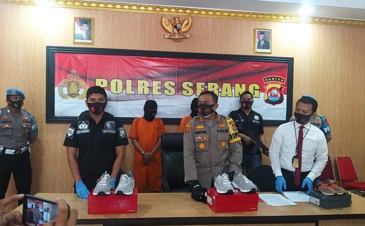 Polres Serang Berhasil Tangkap Pelaku Penggelapan Sepatu Milik PT PWI