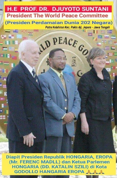 Presiden Dunia The World Peace Committe 202 Negara, HE Mr. Djuyoto Suntani Menunjuk Ketum Organisasi Pers SWI
