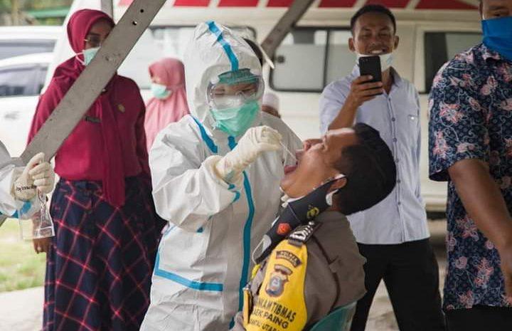 Dinkes Labuhanbatu, Swab Test 60 Polisi Yang Bertugas Di Polres