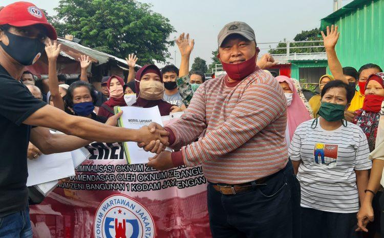 Oknum Zeni Bang-1 Kodam Jaya Duet Heboh Dengan PT. PSS Ancam Gusur 170 Pedagang Kreatif di Pasar Rebo