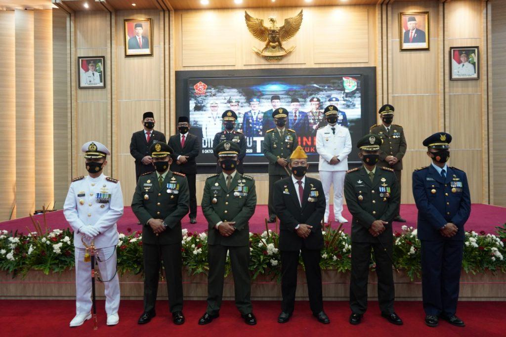 Secara Virtual, Korem 064/MY Gelar Upacara Peringatan HUT TNI Ke-75