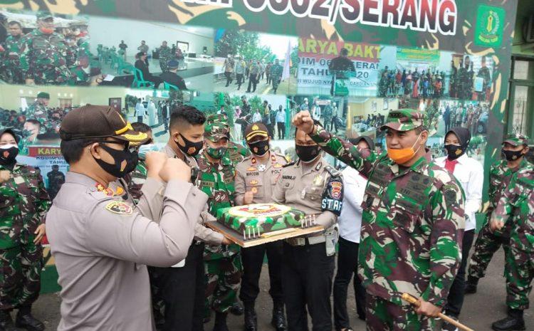 Dirgahayu TNI Ke-75, Kodim 0602/Serang Terima Kejutan Dari Polres Serang Kota