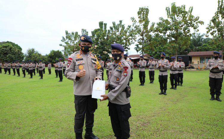 Kapolda Sumut Pimpin Apel Pemberangkatan Personel Sat Brimob Polda Sumut BKO Polda Metro Jaya