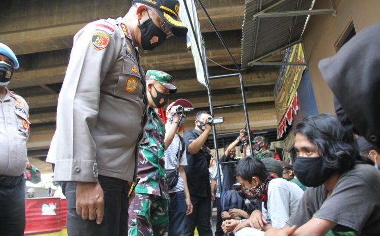 89 Remaja Hendak Demo Terjaring Operasi Gabungan, 2 Diantaranya Positif Covid 19