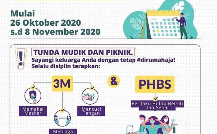 Pemprov DKI Perpanjang PSBB 14 Hari Kedepan Sampai 8 November 2020