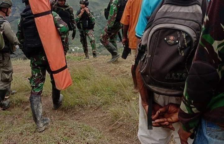 Kontak Tembak Tim Gabungan TNI-Polri Dengan KKB Pimpinan Sabinus Waker Di Sugapa
