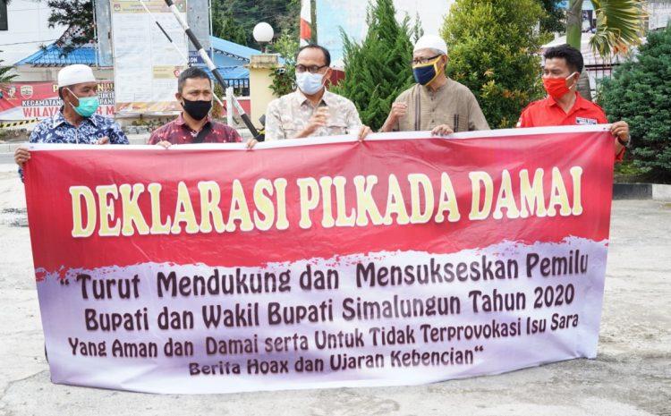 Kapolres Simalungun Bersama Sejumlah Elemen Masyarakat Parapat Deklarasi Cinta Damai