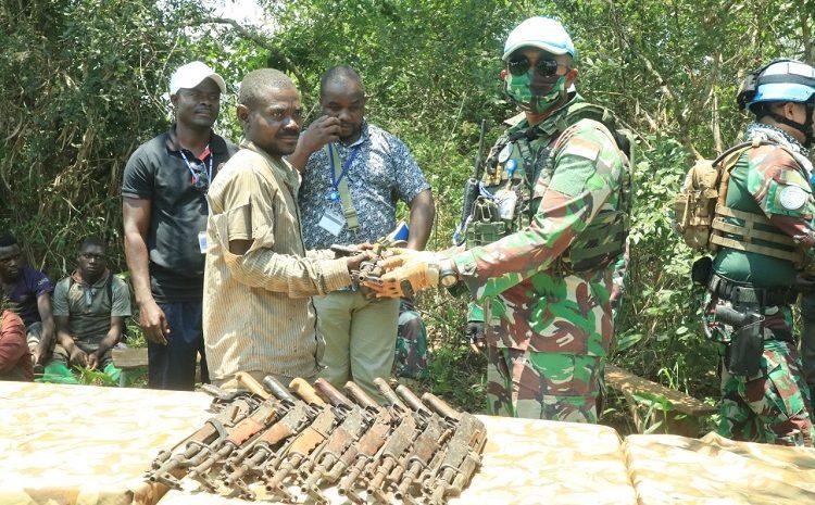 SatgasTNIRDB Monusco Kembali Ukir Prestasi Menurunkan 43 Milisi Beserta 32 Pucuk Senjata