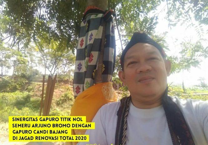 Skala Sinergitas GAPURO Titik Nol Semeru Arjuno Bromo Dengan GAPURO CANDI BAJANG RATU Dijagad Renovasi Total 2020