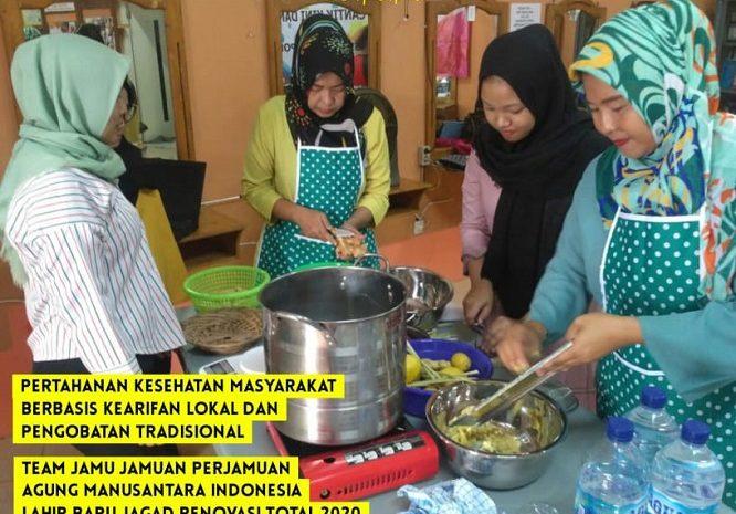 Pertahanan Kesehatan Masyarakat Dengan Jamu-jamuan Perjamuan Agung Manusantara Indonesia Lahir Baru Jagad Renovasi Total 2020