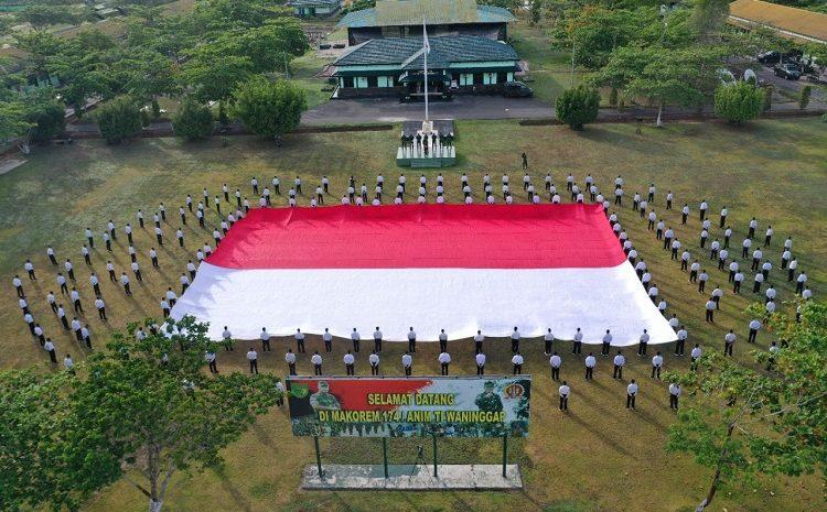 Danrem 174 Merauke Bekali Wawasan Kebangsaan Kepada Calon Tamtama Prajurit Karier TNI AD