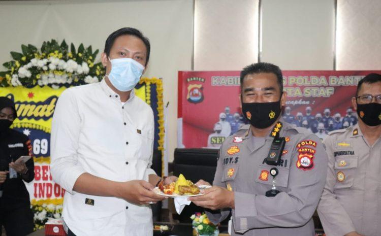 Polda Banten Gelar Syukuran HUT Ke-69 Humas Polri Secara Sederhana Melalui Webinar