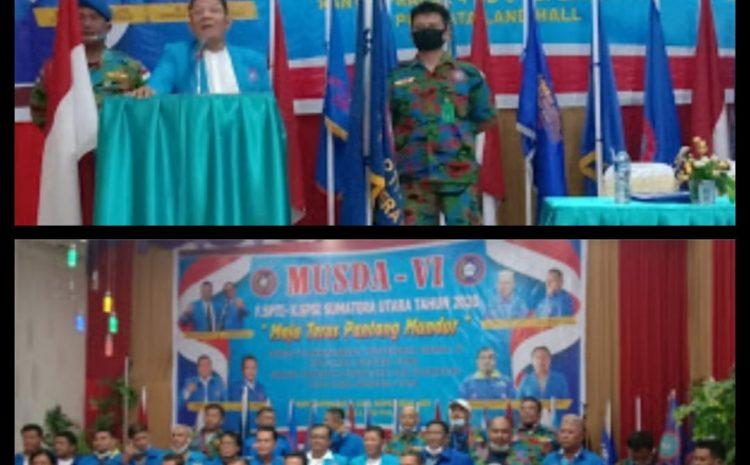 Pembukaan Musda Ke Vl DPD.F.SPTI-K.SPSI SUMUT Oleh Ketum DPP Di Labuhanbatu