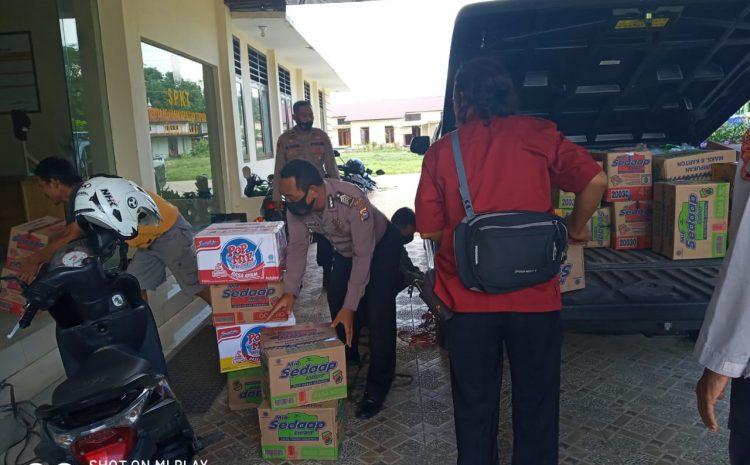 Polres Sumbawa Salurkan Bantuan Untuk Korban Bencana Puting Beliung Pada 3 Kecamatan