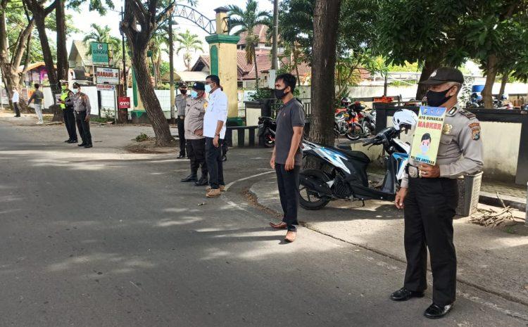 Jajaran Polsek Polresta Mataram Gencarkan Operasi Yustisi Cegah Penyebaran Covid-19