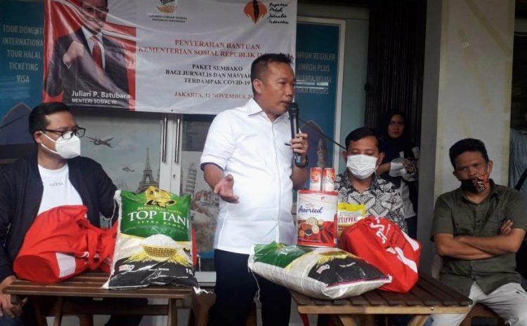 5.300 Bansos Dari Kemensos Disalurkan Yayasan Peduli Jurnalis Indonesia Pada Jurnalis Terdampak Covid-19