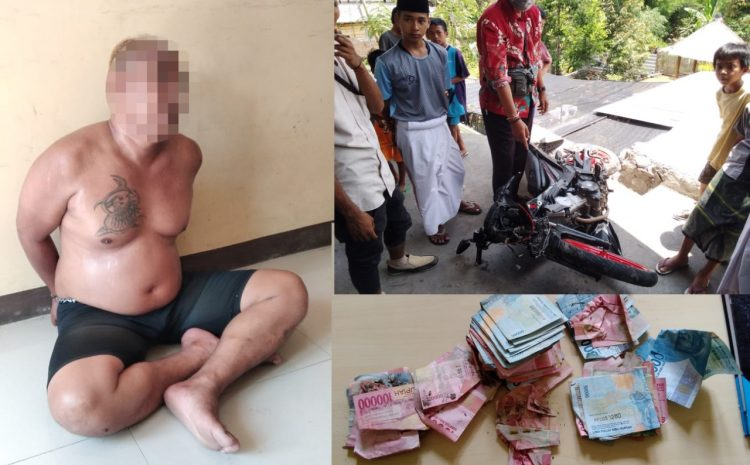Seorang Jambret Di Lombok Tengah Nyaris Babak Belur Dipukul warga