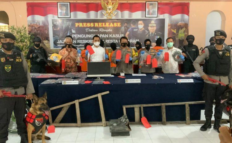 Tangkap Komplotan Pencurian 67 TKP, Polresta Mataram Dibantu K9