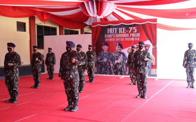 Sat Brimob Polda Banten Peringati HUT Korps Brimob Polri Ke-75 Secara Virtual