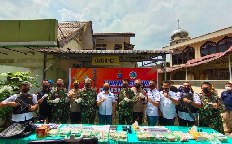 Konferensi Pers Di Poldasu : 2 Orang Jaringan Narkotika Aceh-Dumai, Terpaksa Diberi Timah Panas