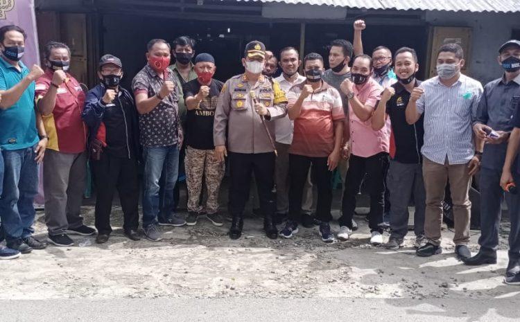 Acara Ultah Wartawan M Saini, Kapolres Sambangi Wappres Dan Bagikan Masker Gratis