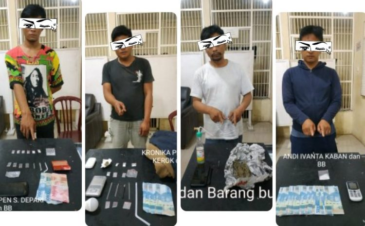 Satres Narkoba Polres Tanah Karo Berhasil Membekuk 4 Orang Pelaku Narkotika