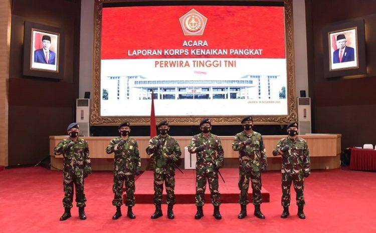 Panglima TNI Terima Laporan Korps Kenaikan Pangkat11 Perwira Tinggi
