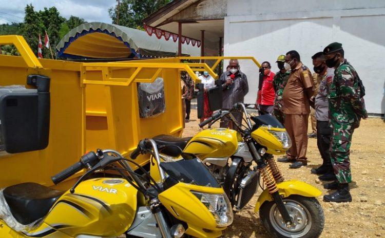 Hadiri Peresmian Kantor Bamuskam, Satgas Yonif MR 413 Kostrad Jamin Keamanan Kampung Koya Koso